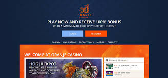 Oranje Casino welcome bonus registration