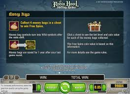 robin hood shifting riches slot money bags free spins netent